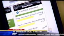 HMO report cards not available on mobile apps