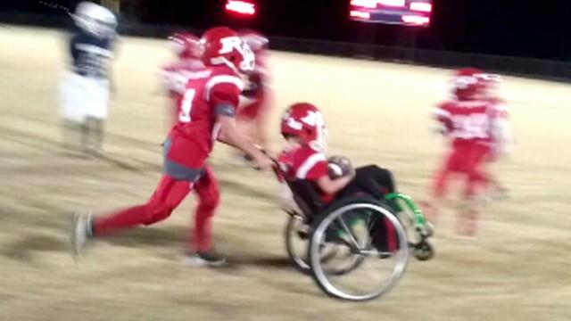Wheelchair-Bound Boy Scores Touchdown