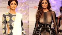 Heights on ramp: Shilpa and Sushmita sizzles LFW ramp