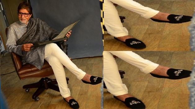 Mystery behind Big B's shoes