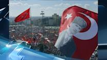 Breaking News Headlines: Turkey's Leader Climbs on Bus, Lambasts Protesters