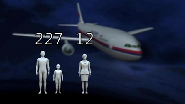 Malaysia Airlines flight feared crashed with 239 people on board