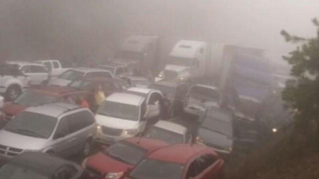 Highway Accident Involves 95 Cars and Trucks