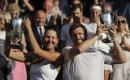 The Latest: Melichar, Peya win Wimbledon mixed doubles title