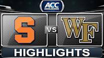 Syracuse vs Wake Forest | 2014 ACC Basketball Highlights
