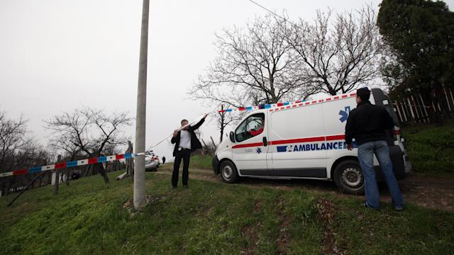 Raw: Police at Serbia Shooting Spree Scene