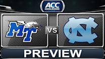 Middle Tennessee State vs North Carolina Preview