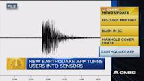 CNBC update: Earthquake app
