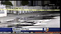 Crews Mop Up Oil Leak In Wilmington After Possible Pipe Rupture