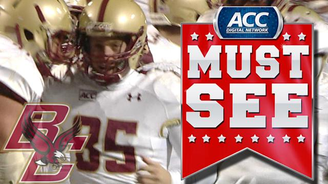 BC Beats Maryland On Nate Freese's 52-Yard Field Goal | ACC Must See Moment