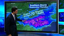 Southern storm to become powerful Nor'easter