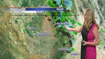 Monday: gusting winds usher in some sprinkles