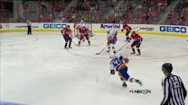 Andrew MacDonald fires a blast by Neuvirth