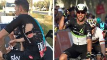 Mark Cavendish's first win of season overshadowed by row over use of disc brakes in peloton
