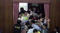 Tax Clash; Taiwanese Lawmakers Duke It Out