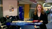 Weather cancellations leaves travelers stranded