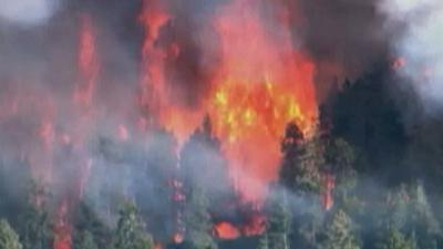 Raw: Wildfire Burns 2,000 Acres in NE Arizona