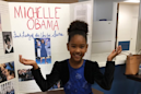 Michelle Obama gave one little girl's third grade project an A+