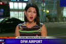 Live TV reporter acts perfectly calm as spider casually crawls all over her
