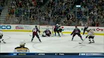 Bergeron stays with it and scores on Varlamov