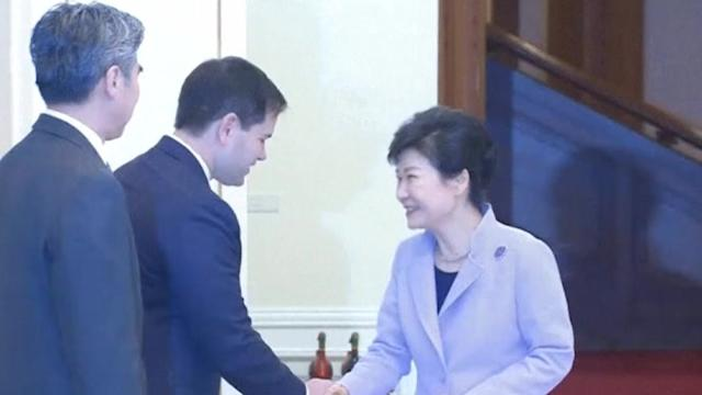 U.S. senator Marco Rubio meets South Korean President in Seoul