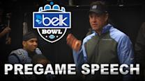 Larry Fedora Gives Pregame Speech Before Belk Bowl