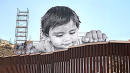 Poignant New Artwork Shows Little Boy Playing On U.S.-Mexico Border
