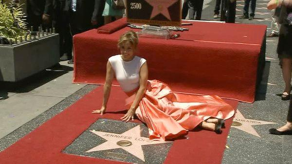 Jennifer Lopez receives star on Hollywood Walk of Fame