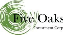 Five Oaks Investment Corp. Reports Fourth Quarter and Full Year 2016 Financial Results And Announces Second Quarter 2017 Common and Preferred Stock Dividends
