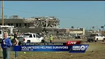 Young tornado survivor describes helping teacher