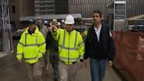Raw: Cuomo tours WTC ahead of storm