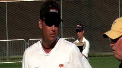 OSU Practice Video: Gundy Consults