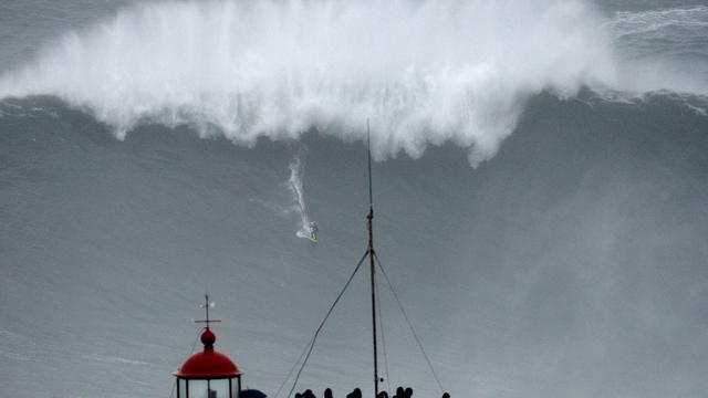 Surfer may have new world record on giant wave in Portugal