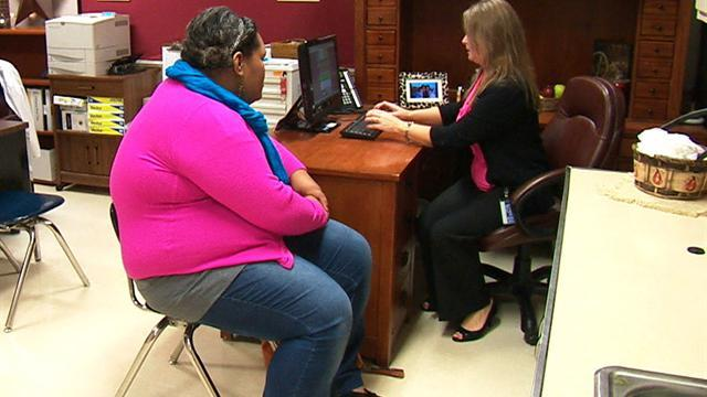 Obese children showing symptoms of adult illnesses