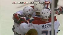Desharnais ties it with late redirection