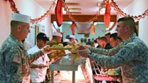 American Soldiers Celebrate Thanksgiving Overseas