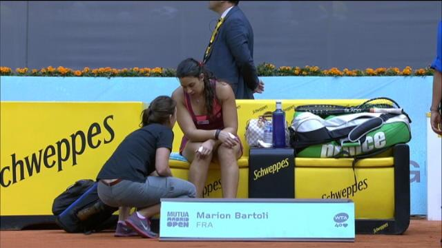 Madrid - Bartoli tombe en 8e