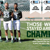 Michigan State steals a beloved Michigan slogan, because it can