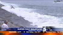 Body Surfers Face Off With Stand-up Surfers in Newport Beach