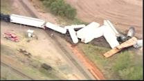 Raw video: Train derails near Perry