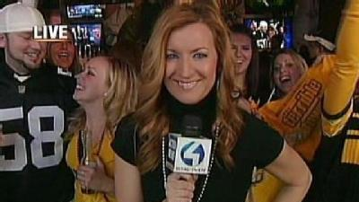 Browns Fan In Disguise Surrounded By Steelers Fans