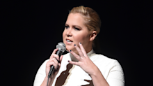 Amy Schumer fires back at fans who walked out of her Donald Trump-insulting show with fake apology