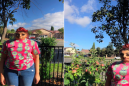 Dad attempts a nice – but absurdly unsuccessful – panoramic photo of his daughter