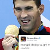 Michael Phelps Taught Simone Biles How to Stack Her Many Medals