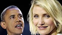 Cameron Diaz 'thrilled' for Obama
