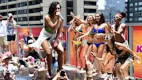 Demi Lovato Takes a Tumble at Pool Party Performance