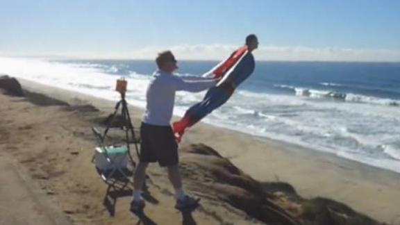 Superman Flies Over The California Coast?