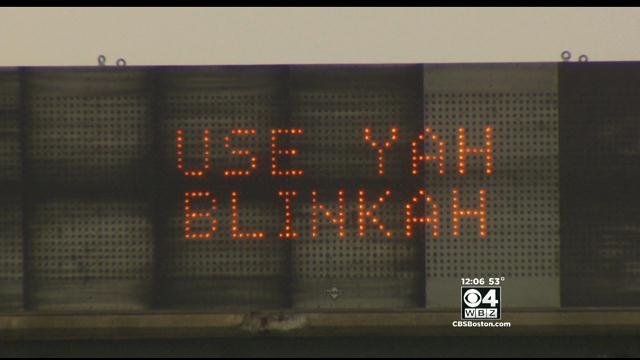 Mass. DOT Puts Boston Accent On Electronic 'Blinkah' Message