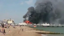Historic Eastbourne Pier Goes Up in Flames