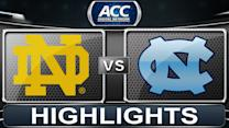 Notre Dame vs North Carolina | 2014 ACC Basketball Highlights